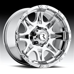 Raceline Wheels 983-89065+25 - Raceline Wheels Raptor Chrome Wheels