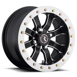 Raceline Wheels A7127037-52 - Raceline Wheels A71 Mamba Matte Black Machined Beadlock Wheels