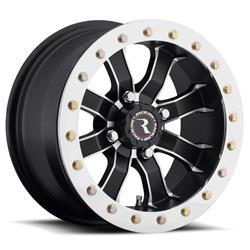 Raceline Wheels A7148056-44 - Raceline Wheels A71 Mamba Matte Black Machined Beadlock Wheels