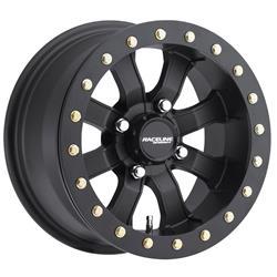 Raceline Wheels A71B-27036-52 - Raceline Wheels A71 Mamba Matte Black Beadlock Wheels