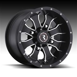 Raceline Wheels A7727015-52 - Raceline Wheels A77 Mamba Matte Black Machined Wheels