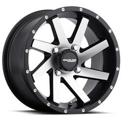 Raceline Wheels A82M-47015-52 - Raceline Wheels A82M Twist Matte Black Machined Wheels