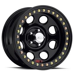 Raceline Wheels RT8178080 - Raceline Wheels Competition Beadlock Rock 8 Black Wheels