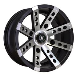 Remington Off-Road BS1470490SBM - Remington Wheels Buckshot Series Gloss Black with Machined Face Wheels