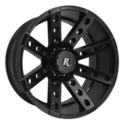 Remington Off-Road BS221185-44SB - Remington Wheels Buckshot Series Satin Black Wheels