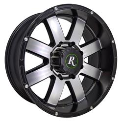Remington Off-Road EP2090730SBM - Remington Wheels 8-Point Series Satin Black with Machined Face  Wheels
