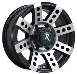 Remington Off-Road BS147043-40SBM - Remington Wheels Buckshot Series Gloss Black with Machined Face Wheels