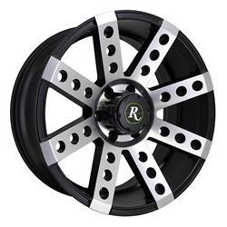 Remington Off-Road BS221180-44SBM - Remington Wheels Buckshot Series Gloss Black with Machined Face Wheels