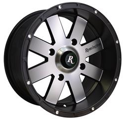 Remington Off-Road EP12704610SBM - Remington Wheels 8-Point Series Satin Black with Machined Face  Wheels