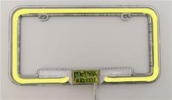 Street Glow ANLP YW   StreetGlow Neon License Plate Frames