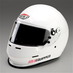 SOLO EQUIPPED Z9-APX-W-SM - Solo Helmet Black Ops APX Auto and Kart Carbon Fiber Helmet