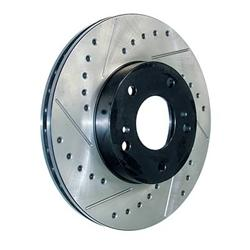 StopTech 127.37001CL - StopTech Drilled and Slotted Cryo Brake Rotors