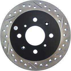 StopTech 127.40017L - StopTech Drilled and Slotted Brake Rotors