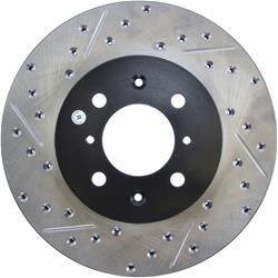 StopTech 127.40021R - StopTech Drilled and Slotted Brake Rotors