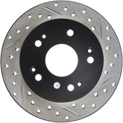StopTech 127.40040L - StopTech Drilled and Slotted Brake Rotors