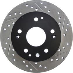 StopTech 127.40042L - StopTech Drilled and Slotted Brake Rotors