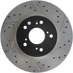 StopTech 127.40046L - StopTech Drilled and Slotted Brake Rotors