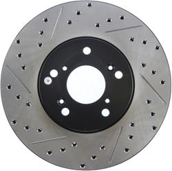 StopTech 127.40046R - StopTech Drilled and Slotted Brake Rotors