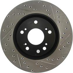 StopTech 127.40057L - StopTech Drilled and Slotted Brake Rotors