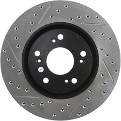 StopTech 127.40057R - StopTech Drilled and Slotted Brake Rotors