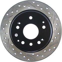 StopTech 127.40061L - StopTech Drilled and Slotted Brake Rotors