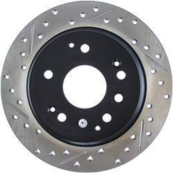 StopTech 127.40061R - StopTech Drilled and Slotted Brake Rotors