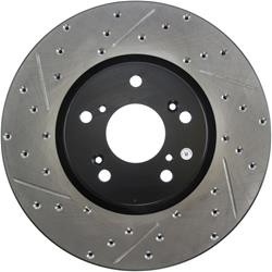 StopTech 127.40062R - StopTech Drilled and Slotted Brake Rotors