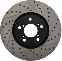 StopTech 127.40071R - StopTech Drilled and Slotted Brake Rotors