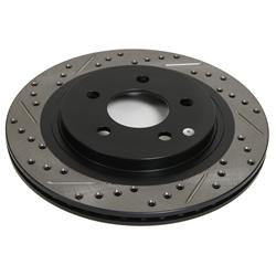 StopTech 127.38017R - StopTech Drilled and Slotted Brake Rotors