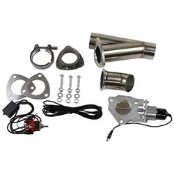 Summit Racing SUM-670112 - Summit Racing® Complete Electric Exhaust Cutout Kits