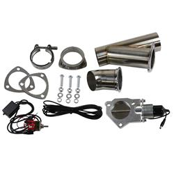 Summit Racing SUM-670113 - Summit Racing® Complete Electric Exhaust Cutout Kits