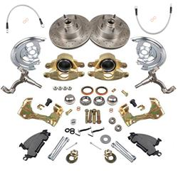 Summit Racing SUM-BK1202 - Summit Racing® Full Wheel Drum-to-Disc Brake Conversion Kits