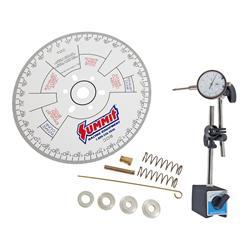 "Proform Engine Camshaft Degree Wheel Kit 68786; 9.000/"" White Aluminum"