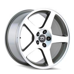 Detroit Wheels 815-7965M - Detroit Wheels 2003 Machined Silver Cobra Wheels