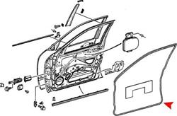 URO Parts 210 720 0178 - URO Parts Weatherstrip Seals