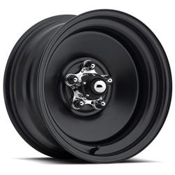 U.S. Wheel 68-8860 - U.S. Wheel 68 Series Rat Rod Matte Black Wheels