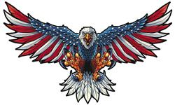 American Flag Eagle Steel Sign Fly044 Free Shipping On Orders Over