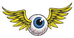 Flying Eyeball Die Cut Sign Leth100 Free Shipping On