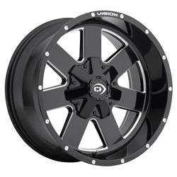 Vision Wheel 411-8983MS-12 - Vision Off-Road 411 Arc Series Gloss Black Wheels with Milled Spokes
