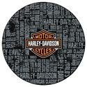 "Click here for more information about Harley-Davidson® ""Repeat"" Pattern Café Table"