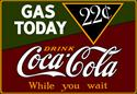 Click here for more information about Summit Gifts 2180071 - Coca-Cola Gas Today Signs