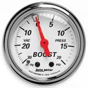 Click here for more information about AutoMeter Arctic White Analog Gauges