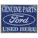 Click here for more information about Ford Parts Used Here Tin Sign