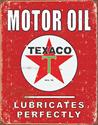 Click here for more information about Texaco Motor Oil Lubricates Perfectly Tin Sign