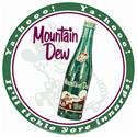 "Click here for more information about Mountain Dew Hillbilly Sign -12"" Round"