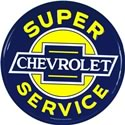 Click here for more information about Super Chevrolet Service Embossed Tin Sign