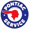 Click here for more information about Authorized Pontiac Service Embossed Tin Sign