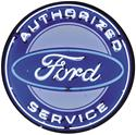 Click here for more information about Summit Gifts 9FRDBK - Ford Authorized Service 36 in. Diameter Neon Sign