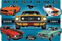 Click here for more information about Ford Mustang Since 1964 Die-Cut Sign