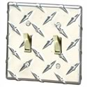 Click here for more information about Aluminum Diamond-Plate Dual Light Switch Cover